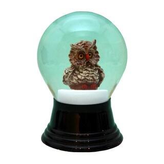 Alexander Taron Perzy Holiday Seasonal Decor Medium Owl Snowglobe