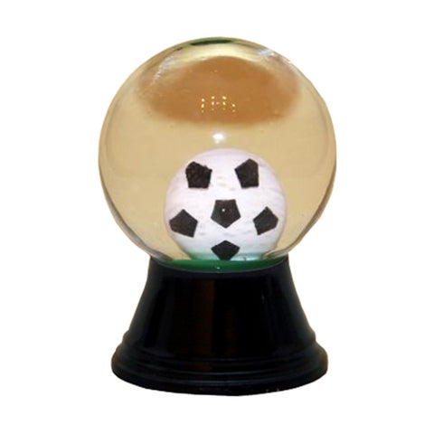 Alexander Taron Perzy Holiday Seasonal Decor Mini Soccer Ball Snowglobe