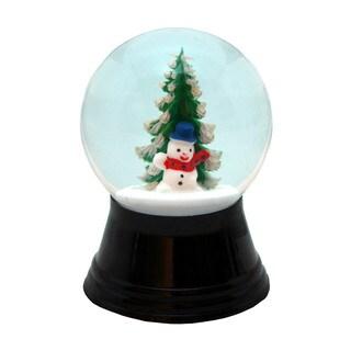 Alexander Taron Perzy Holiday Seasonal Small Snowman with Tree Snowglobe