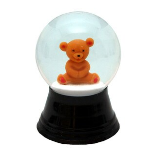 Alexander Taron Perzy Holiday Seasonal Decor Small Teddy Bear Snowglobe