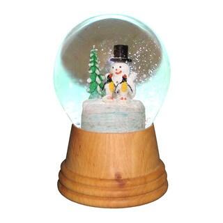 Alexander Taron Perzy Holiday Seasonal Home Snowman With Penguin Snowglobe