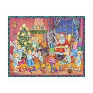 Alexander Taron Sellmer Holiday Seasonal Small Santa with Angels Advent