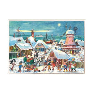 Alexander Taron Sellmer Holiday Seasonal Decor Village in Dutch port Advent