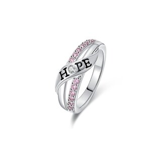 White Gold Filled Cubic Zirconia 'HOPE' Ring (More options available)