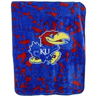 "Kansas Jayhawks Throw Blanket / Bedspread 63"" x 86"""