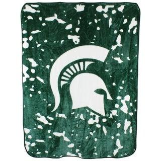 "Michigan State Spartans Throw Blanket / Bedspread 63"" x 86"