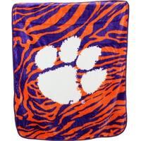 """Clemson Tigers Raschel Throw Blanket 50"""" x 60"""""""