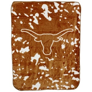 "Texas Longhorns Throw Blanket / Bedspread 63"" x 86"""