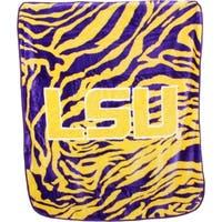 """LSU Tigers Raschel Throw Blanket 50"""" x 60"""""""