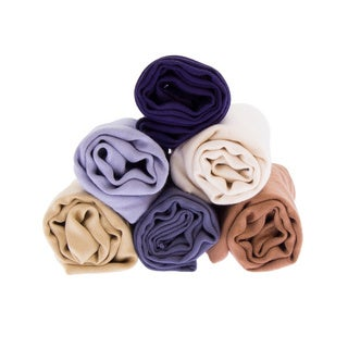 Handmade Saachi Viscose 6 Scarf Gift Set ( 4 color options )