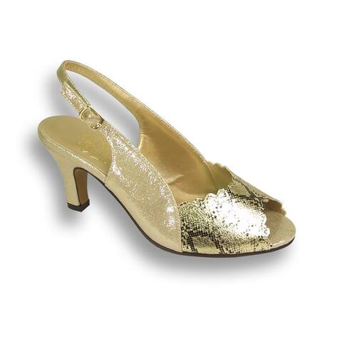 FLORAL Corina Women Extra Wide Width Glittery Scaly Pattern Slingback
