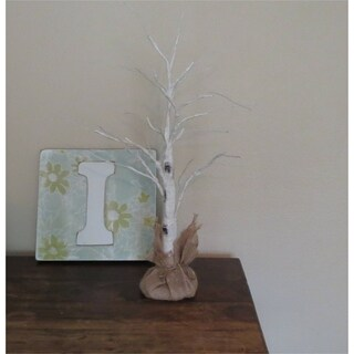 "Lighted white birch tree / twig 27"" Tall"