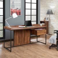 ACME Shea Desk in Walnut and Sandy Black