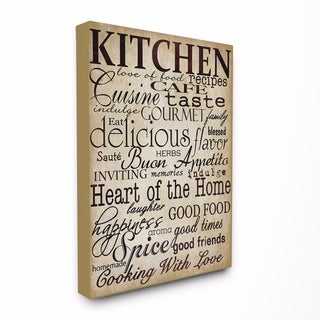 Stupell Industries Words In The Kitchen Off White Wall Art