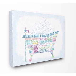 Stupell Industries Splish Splash Bathroom Wall Art