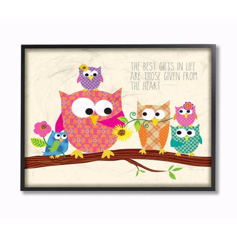 Stupell Industries The Best Gifts In Life Owls Wall Art