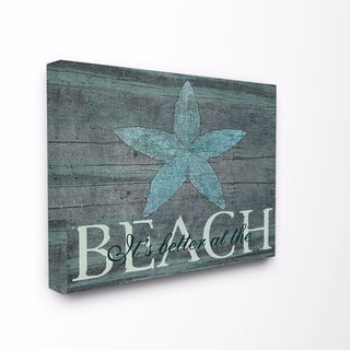 Stupell Industries It's Better At The Beach Starfish Wall Art