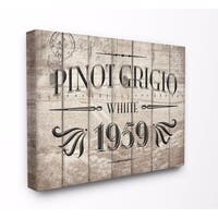 Stupell Industries Pinot Grigio Label Wine Kitchen Wall Art