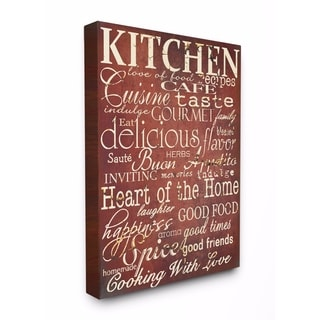 Stupell Industries Words in the Kitchen, Off Red Wall Art