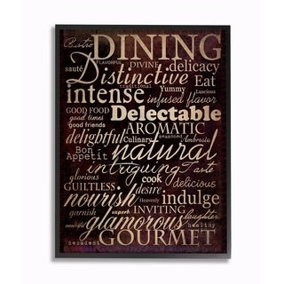 Stupell Industries Dining Words Black Kitchen Wall Art (2 options available)