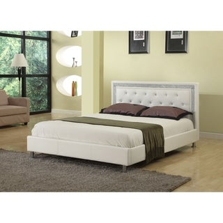 Best Master Furniture Low Profile Upholstered Leather Platform Bed