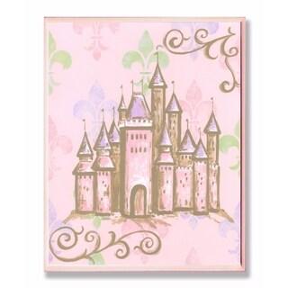 Stupell Industries Castle with Fleur de Lis Wall Art