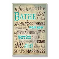 Stupell Industries Bathe Wash Your Worries Bathroom Wall Art