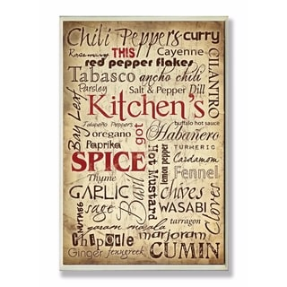 Stupell Industries Kitchen Spice Wall Art