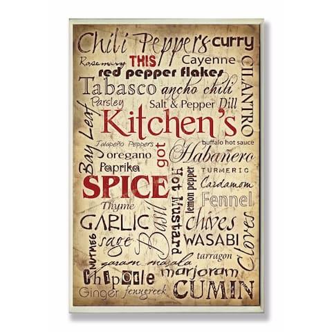 Stupell Industries Kitchen Spice Wall Art