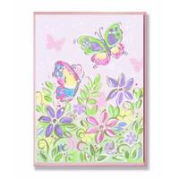 Stupell Industries Pastel Butterflies and Flowers Wall Art