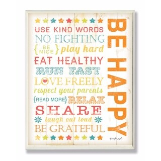 Stupell Industries Be Happy Wall Art