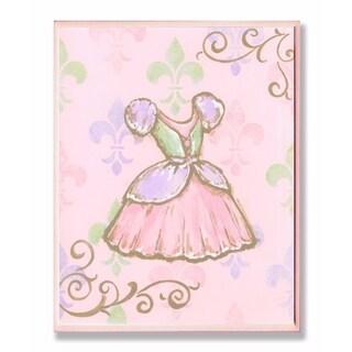 Stupell Industries Princess Dress with Fleur de Lis Wall Art