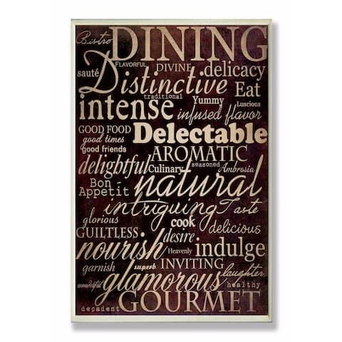 Stupell Industries Dining Words Black Kitchen Wall Art