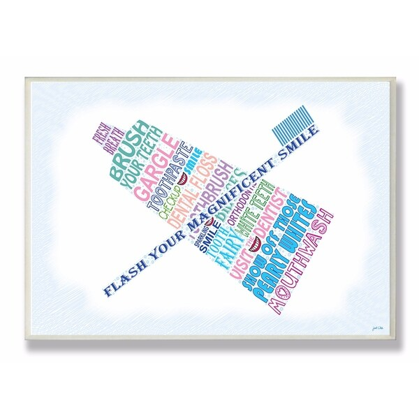 Stupell Industries Flash Your Smile Bathroom Wall Art