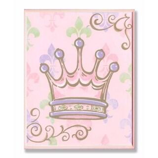 Stupell Industries Crown with Fleur de Lis Wall Art