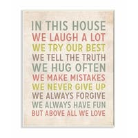 Stupell Industries In This House We Inspirational Art Wall Art
