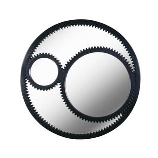 "Design Craft Notch 33.75"" Black Wall Mirror"