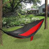 Mind Reader Nylon Hammock with Steal Ropes, Red