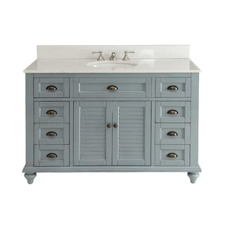 49'' Glennville Bathroom Sink Vanity W/ Matching BS - Blue