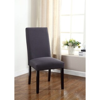 Best Master Furniture Stone Grey Fabric Side Chair (Set of 2)