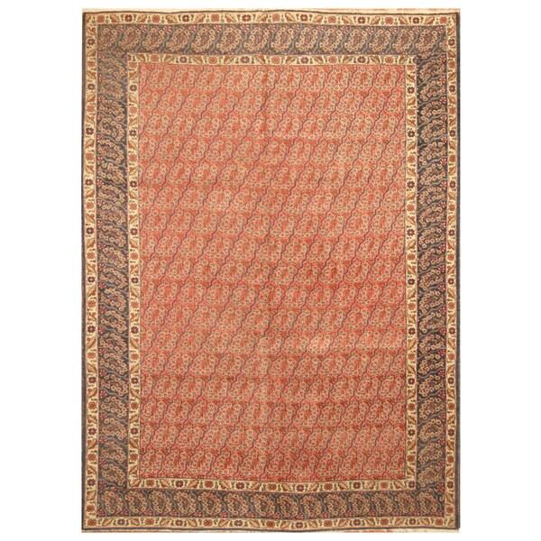 Handmade Herat Oriental Persian Hand-Knotted Tribal Tabriz 1940's Wool Rug (8'4 x 11') - 8'4 x 11'