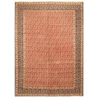 Handmade Herat Oriental Persian Hand-Knotted Tribal Tabriz 1940's Wool Rug - 8'4 x 11'