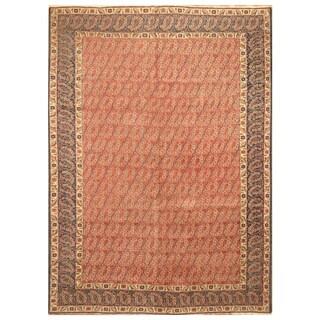 Handmade Herat Oriental Persian Hand-Knotted Tribal Tabriz 1940's Wool Rug (Iran) - 8'4 x 11'