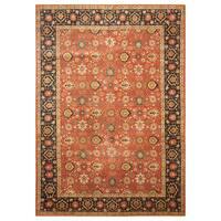 Handmade Herat Oriental Persian Hand-Knotted Tribal Tabriz 1940's Wool Rug (8'3 x 11'7)