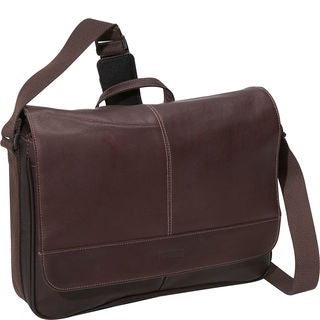 Kenneth Cole Reaction Colombian Leather Slim Flapover Crossbody Messenger Bag - 8' x 10'