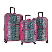 World Traveler Artisan 3-piece Rolling Expandable Spinner Luggage Set