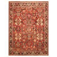 Handmade Herat Oriental Persian Hand-Knotted Tribal Mahal 1940's Wool Rug (7'7 x 10'10) - 7'7 x 10'10