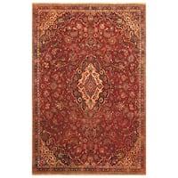 Handmade Herat Oriental Persian Hand-Knotted Tribal Kashan 1920's Wool Rug (Iran) - 6'5 x 10'