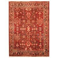 Handmade Herat Oriental Persian Hand-Knotted Tribal Mahal 1940's Wool Rug - 7' x 10' (Iran)