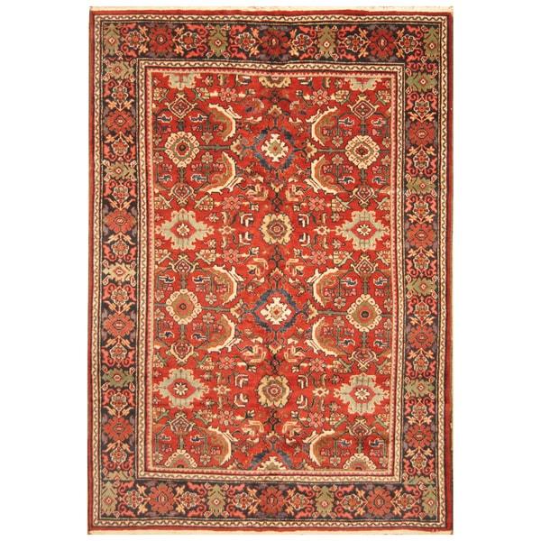 Handmade Herat Oriental Persian Hand-Knotted Tribal Mahal 1930's Wool Rug (Iran) - 6'10 x 10'6